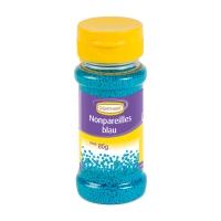 Décors en sucre à parsemer nonpareilles, bleus, 12 X85g