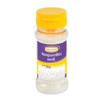 Décor en sucre à parsemer nonpareilles, blancs, 12 X85g