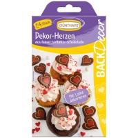 15 pcs Coeurs en chocolat noir