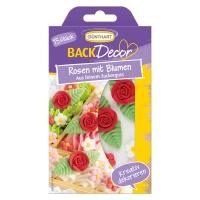 Ass. de roses et fleurs en sucre 1 X15 Blister