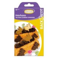 15 Lapins de Pâques, dorés, chocolat Noir, ass.