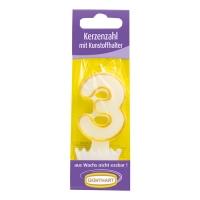 15 Bougie numérotée avec bobêche n°. 3