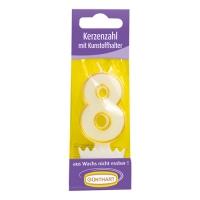 15 Bougie numérotée avec bobêche n°. 8