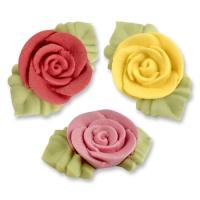 54  pcs Roses en sucre avec feuilles