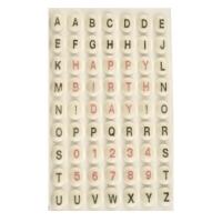 882 pcs Rondelles en sucre avec lettres et chiffres