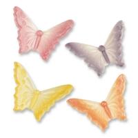 48 pcs Petits papillons en sucre adragant assortis
