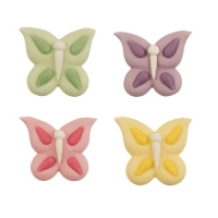 72 pcs Papillon en sucre plats assortis