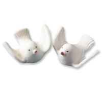 25 pcs Colombes blanches en 3D