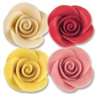 24 pcs Grandes roses en couleurs