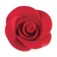24 pcs Grandes roses, rouges (avec colorants azoïques)