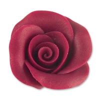 24 pcs Grandes roses, bordeaux