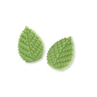 Grandes feuilles vertes de rosier 1 X100 pcs - 40 x 28 x 3,5 mm