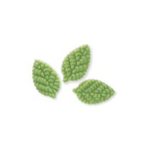Petites feuilles vertes de rosier 1 X144 pcs - 33 x 20 x 3,5 mm
