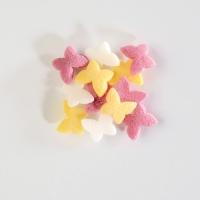 Décor à parsemer papillons en sucre multicolores 1 X1,4 Kg - 9 mm