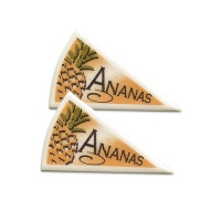 120 pcs Décors triangle  Ananas
