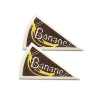 120 pcs Décors triangle  Banane