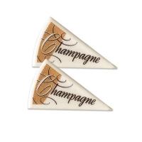 120 pcs Décors triangle Champagne