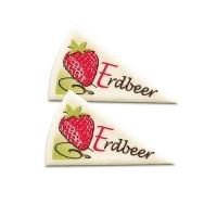 120 pcs Décors triangle   Erdbeer