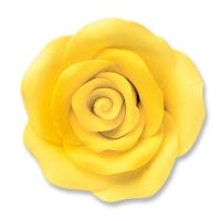 24 pcs Grandes roses, jaunes