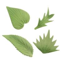 120 pcs Assortiment de feuilles en sucre fin