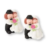 Couples de mariés  1 X24 pcs - 40 x 42 mm