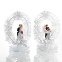 2 pcs Couples de mariés en résine