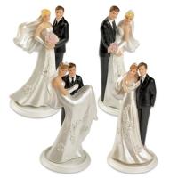 4 pcs Couples de mariés sur embase petit modèle 4 versions