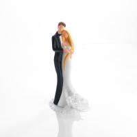 1 pcs Couple de mariés en porcelaine avec décoration florale