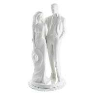 1 pcs Couple de mariés en porcelaine blanche