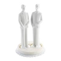 Hommes en porcelaine blanche