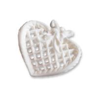 25 Petits filigranes blancs en forme de cœur