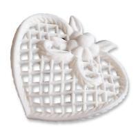 9 Grands filigranes blancs en forme de cœur
