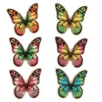 100 pcs Plaquettes décor, Papillons, ass.