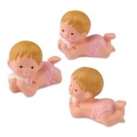 6  pcs Bébés en céramique, roses