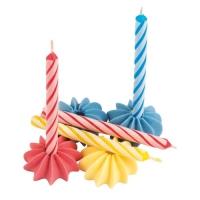 120 Bougies avec bobèches