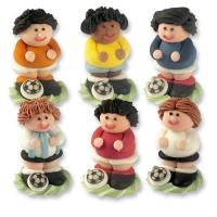 24 pcs Footballeurs, en 3D, couleur