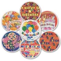 12 pcs Plaquettes  Happy Birthday ,  assorties