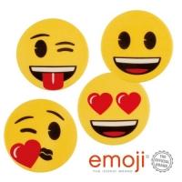 12 pcs Plaquettes décor,  Emoji  ass.