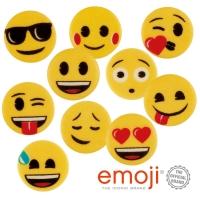 100 pcs Plaquettes décor,  Emoji  ass.
