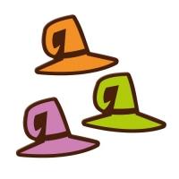 Plaquettes chapeaux de sorcières, chocolat noir,ass. 1 X96 pcs - 38 x 28 mm