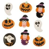 Figurines en sucre à plat Halloween , ass. 1 X63 pcs