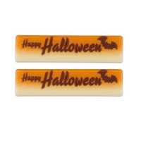 "Plaquettes en chocolat blanc ""Happy Halloween"""