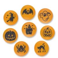 84 pcs Plaquettes avec motifs Halloween en sucre