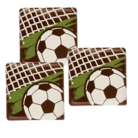 140 pcs Carrés Footballeurs en chocolat noir