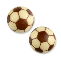 40 pcs Ballon de foot, creux, 3D, chocolat blanc