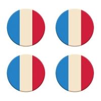 120 pcs Plaquettes drapeau français en chocolat noir