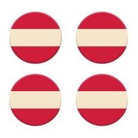 120 pcs Plaquettes drapeau autrichien en chocolat blanc