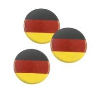 120 pcs Plaquettes drapeau allemand en chocolat blanc