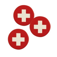 120 pcs Plaquettes drapeau suisse en chocolat blanc