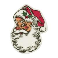 Tête de Père-Noël en masse de sucre